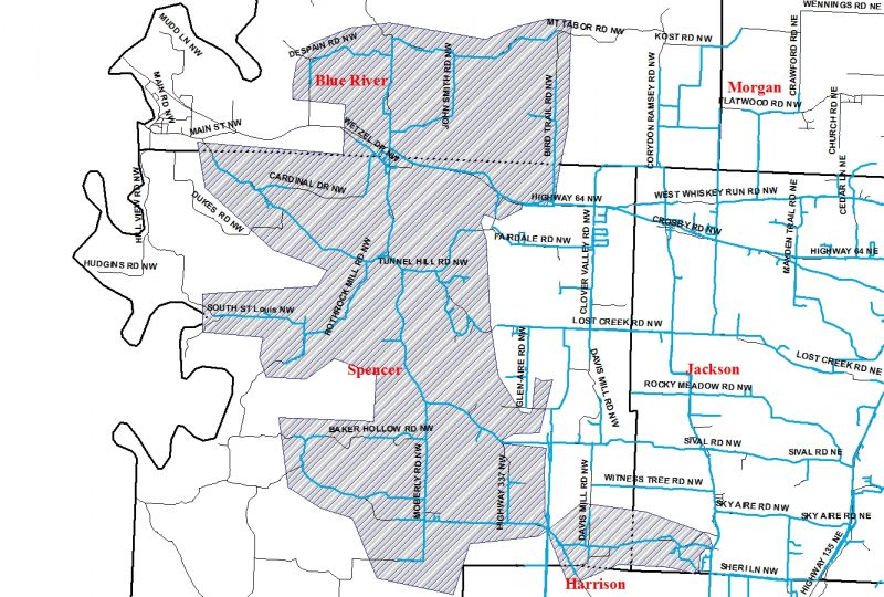 Zone B Map | Ramsey Water Company Inc. C Spire Coverage Area Map on